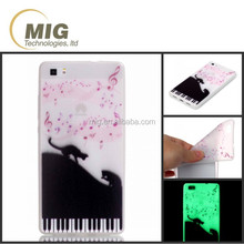 Mobile phone case TPU painting glow in the dark case For p8 lite smart phone cover