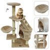 Cat tree with beige scratching post cat sex toys cat play house