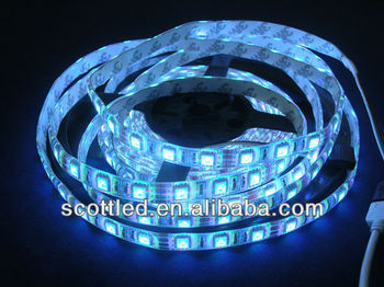 polyamide strip LED flexible,5050SMD,60leds/m,RGB Color,Waterproof IP65,5m per roll,white PCB with 3M tape,DC12V Input,
