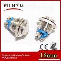 16mm anti-vandal momentary function 120v push button switch no LED