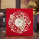 wishmade Square indian red laser cut wedding decoration invitation card cw5522