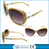 High quality sunglasses for women ,big yellow frame fashion sunglasses