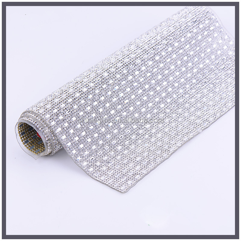Crystal Material and point back Technics rhinestone net