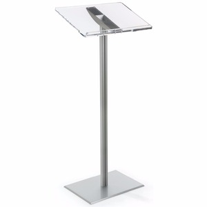 Aluminum Pole and Base Clear Silver Acrylic Glass Pulpit Low Price