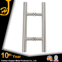 Foshan huajian solid metal pull handle for glass door