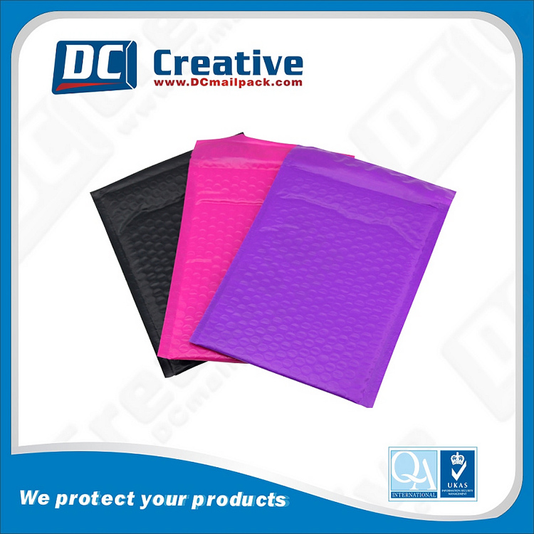 Wide Welding Edges Coloured Kraft Bubble Envelope For Packing