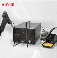 AOYUE 701A+ Brand 2 in 1 BGA Desoldering Station Electric Vacuum Desoldering Pump Solder Sucker Gun