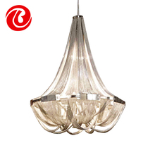 New creative Fashion Modern silver Crystal Chandelier Lighting