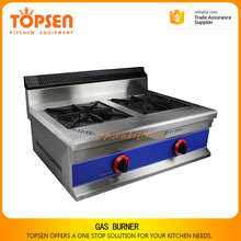 2017 Topsen hot sale gas range with 2 burners gas wok burner for wholesale