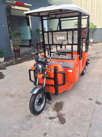 electric taxi for sale fashionable electric cargo tricycle with many passenger seats