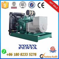 500kw volvo diesel generator price with 6 cylinder engine