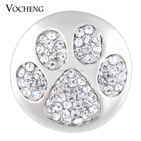 20PCS/Lot Wholesale Vocheng 18mm Bling Paw Snap Crystal Button Vn-1135*20 Free Shipping