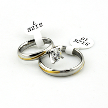 ANSAO-0075 Wholesale 2015 Fashion 316l Stainless Steel Wedding Ring for Women & Men