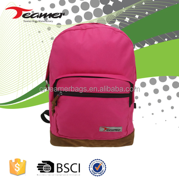 China Supplier Wholesale 600D Pu Popular College Bags Girls Backpack For Men