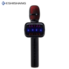 free shipping E109 wireless bluetooth speaker microphone with led light and voice changer