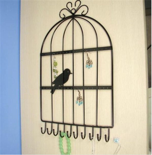 Decorative Wall-mounted Bird Earring Necklace Display Jewelry Stand Holder