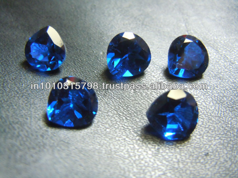 Top Quality Synthetic Blue Spinal Gemstone Cut Stone Heart Shape 6x6MM Cheap Wholesale Price