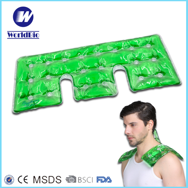 custom reusable instant click magic PVC gel moxa heat pack for pain for neck shoulder