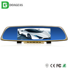 "2016 alibaba best selling Hot HD 6.86"" LCD Dual Lens high-end Full HD 6G Glass Lens car rearview mirror camera dvr"