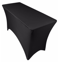Black Spandex Office or Banquet Decorative Stretch Table Covers