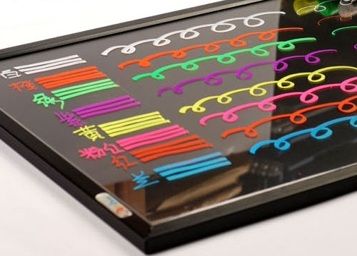 8 Colors Factory Price LED Writing Board Light Board Pen For Promotion