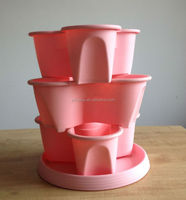 new product for 2014 plastic stackable flowerpot Strawberry Tower Wholesale Garden Supplies