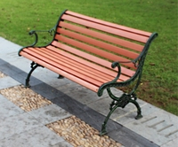 Popular design cheap style cast iron wooden plastic long lowes park benches