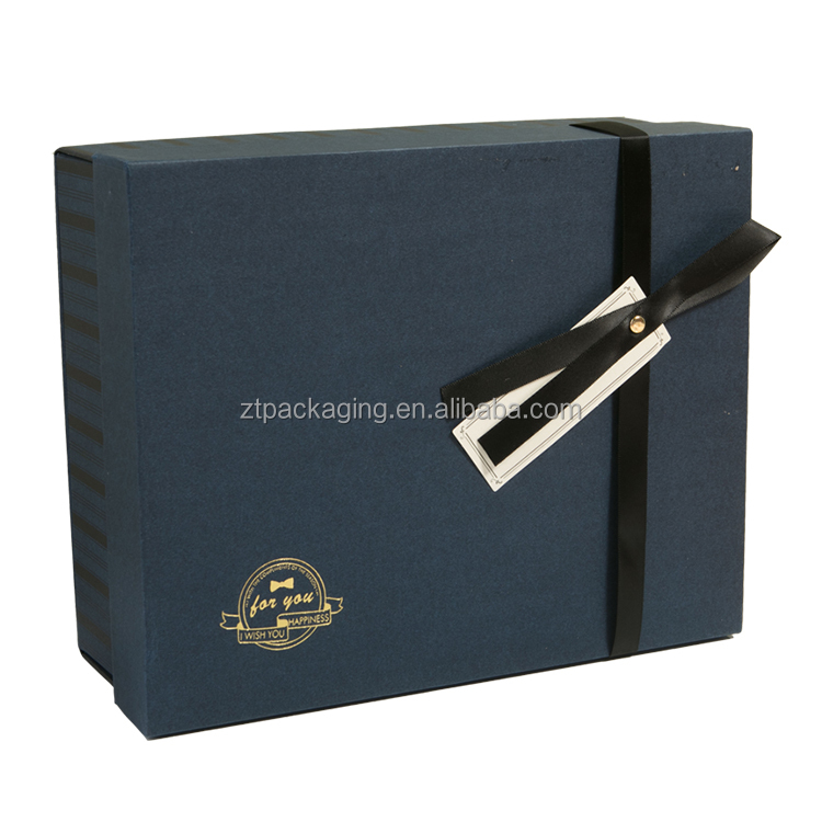 Custom Logo Manufacturer Price Folding Gift Box With Ribbon