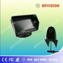 High quality 5.6 inch digital tft lcd car rearview monitor with quad display and Ball camera with shark mount bracket
