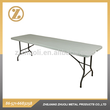 8FT Fold-in-half Table blow molded folding table