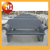 Outdoor granite piano bench with back for garden furniture
