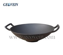 Cast Iron Big Cooking Wok Non-stick Coating