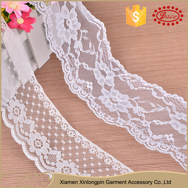 Stylish design multi-function nylon knitted trimming lace for baby headband