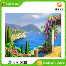 Factory supply interior wall decor art diamond painting 3d beautiful sea scenery paitning