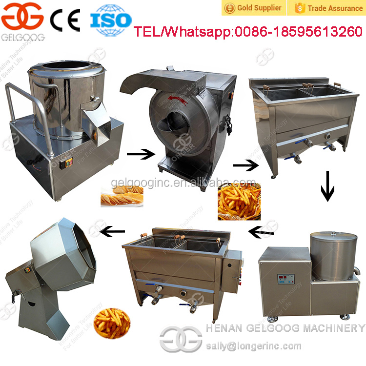 Automatic French Fried Potatoes Production Line French Fries Making Machine