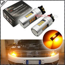 Amber 10W PWY24W LED Replacement Bulbs For Volkswagen Gti Golf 7, etc For Front Turn Signal Lights