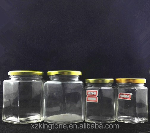380ml glass jar for honey/ 380ml cheap glass honey jars wholesale/380ml glass containers for honey