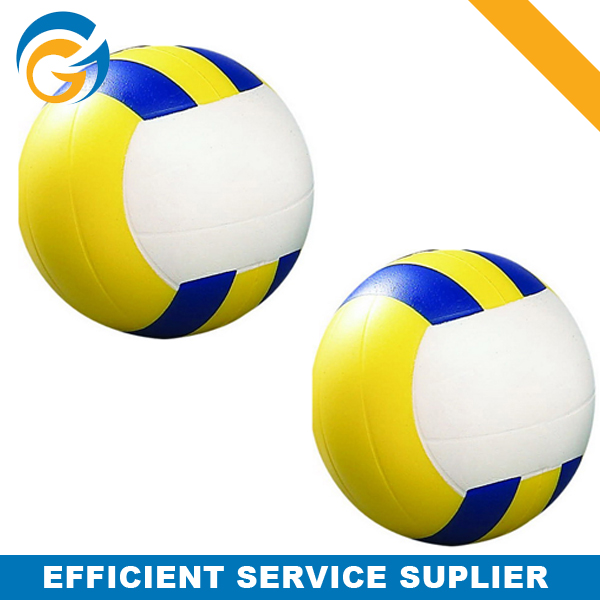 Multi-Color Volley Shaped Sand Anti Stress Ball