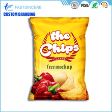 Wholesale Plastic Pillow Potato Chips Packaging Bag Middle Seal Pouch