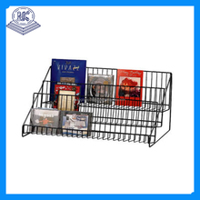 Metal Material Countertop Spinning Chip Display Stand Rack