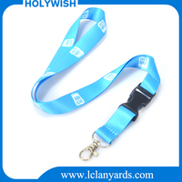 New style single cheap custom printed lanyard with keychain no minimum order