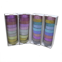 Crepe Paper Bulk Removable Glitter Adhesive Washi Tape