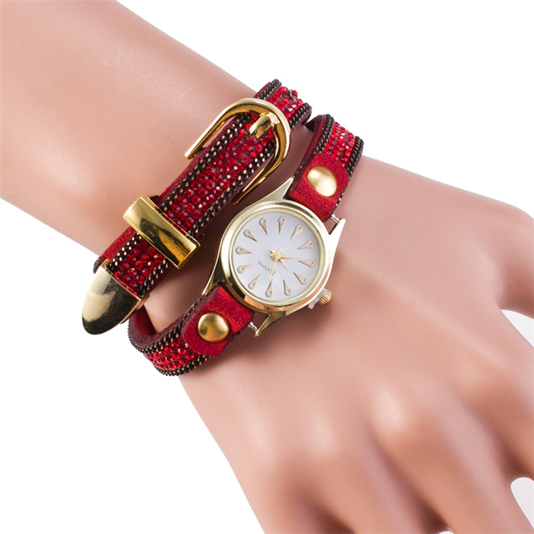 2016 vintage style ladies bracelet wrist watch fashion design high quality geneva watch