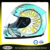 Stylish ABS DOT approved blue full face motor bike ladies helmet