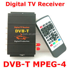 2 Tuners M-618 External Mobile DVB-T MPEG-4 Auto DVBT MPEG4 Digital TV Receiver Box With Remote Control For Car DVD GPS Player