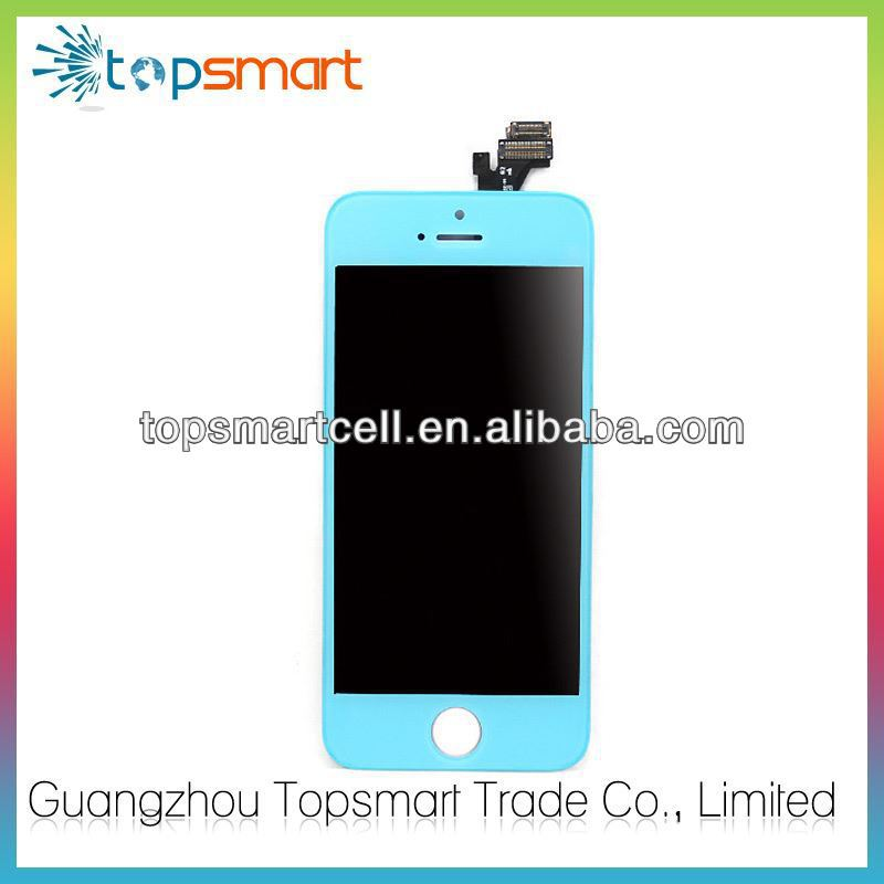 Wholesale For Iphone 5 Blue Mirror Lcd,Accept paypal