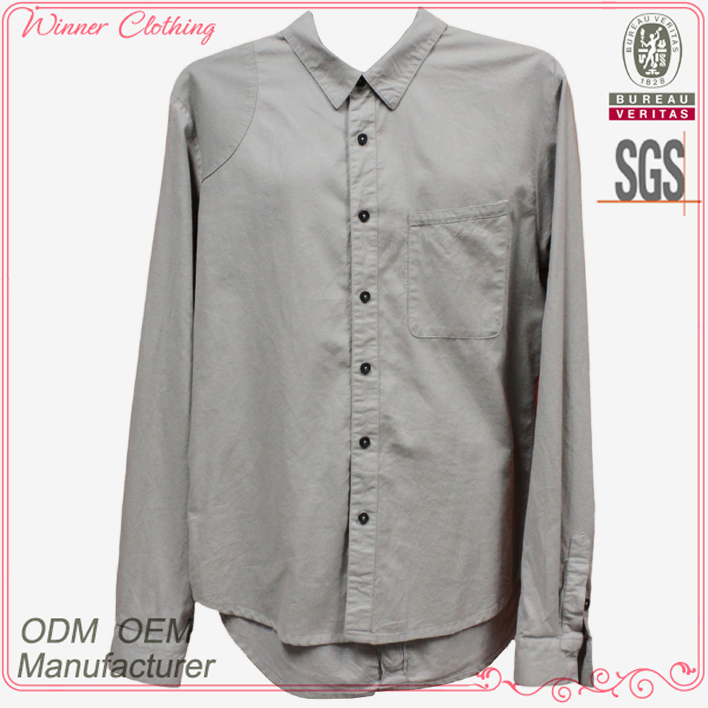 Fashion trend mandarin collar shirts for men