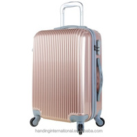 Golden ABS Luggage w/TSA lock Travel Set Bag Trolley Hard Shell Suitcase