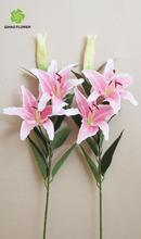 Fabric lily flowers centerpieces for wedding artificial flower