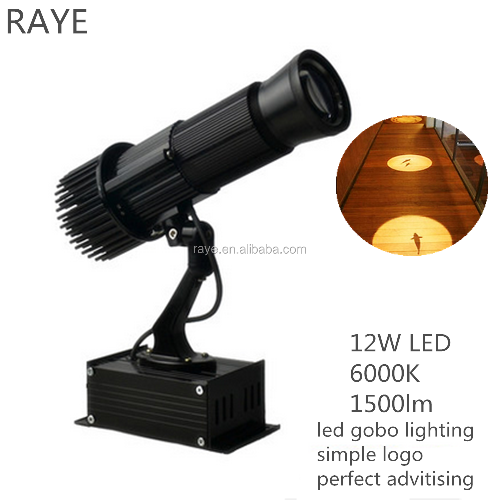 led logo projector led gobo light 12w indoor outdoor use
